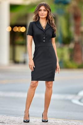 Collared Fitted Dress