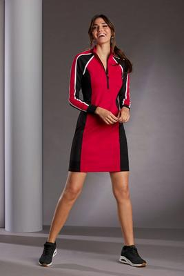 Color Block Sport Zip Dress