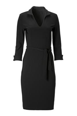 Beyond Travel™ Tie-Front Collar Dress