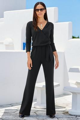 Beyond Travel™ Surplice Tie Jumpsuit