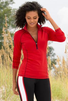 Front Zip Sport Pullover