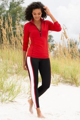 multistripe sport leggings