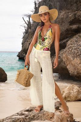 Sheer Lace Pant Cover-Up