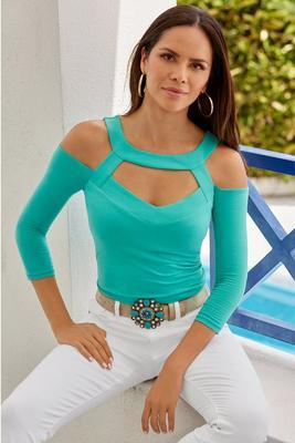so sexy™ cutout cold-shoulder top