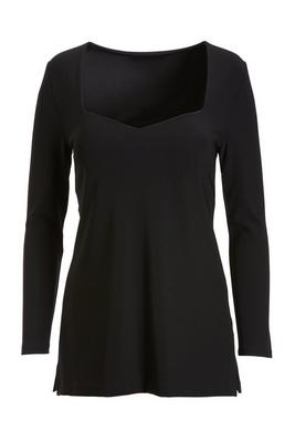 Beyond Travel™ Long-Sleeve Sweetheart Tunic Top