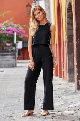 Beyond Travel™ Grommet Jumpsuit
