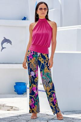 Animal Scroll Palazzo Pant