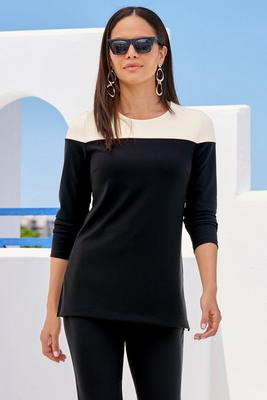 Beyond Travel™ Color Block Long-Sleeve Top