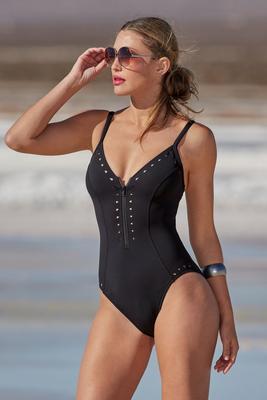 Deep Dive Zip-Up Cutout One-Piece Swimsuit