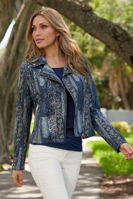 Foil Snake Moto Jacket