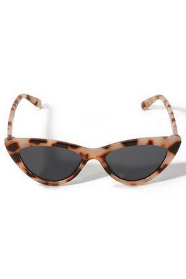 Brown Cat-Eye Tortoiseshell Sunglasses