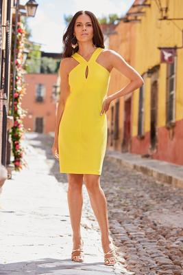 Beyond Travel™ Keyhole Short Dress