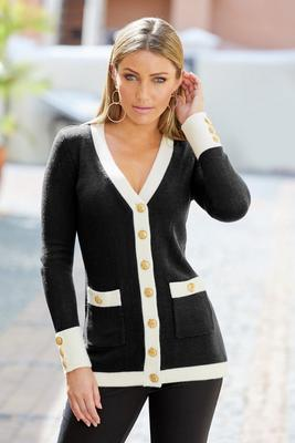 Novelty Button Cardigan