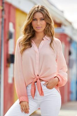 ombré button-up shirt