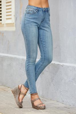 Rhinestone Pinstripe High-Rise Ankle Jean