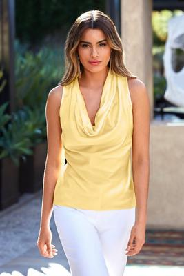 Marilyn Cowl-Neck Blouse