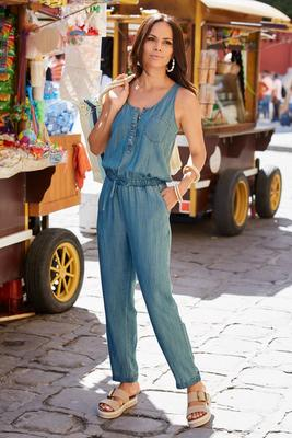 Display product reviews for Summer Essentials Tencel Jumpsuit