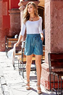 Summer Essentials Tencel Tie-Waist Short