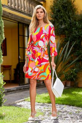Bright Printed Dress