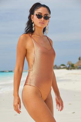 Metallic One-Piece Swimsuit