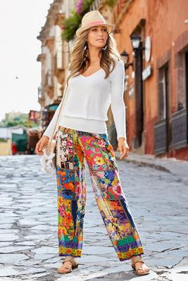 Patchwork Paisley Palazzo Pant