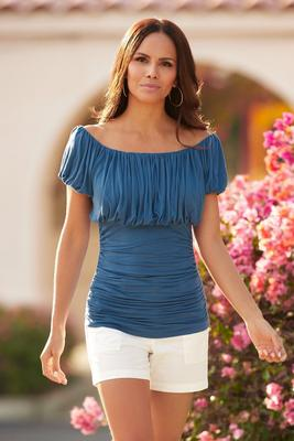 Ruched Off-the-Shoulder Top