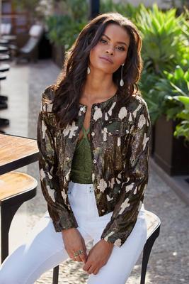 Sequin Camo Jacket