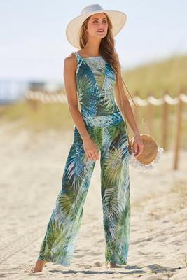 tropical mesh beach pant