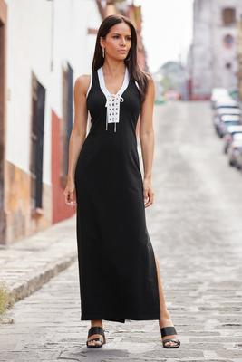 Lace-Up Sport Maxi Dress