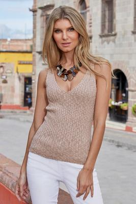 ribbed knit sweater tank