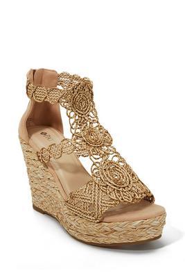 Crochet Espadrille Wedge Shoe