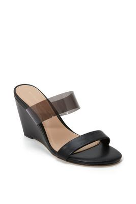 Lucite Slip-On Wedge Shoe