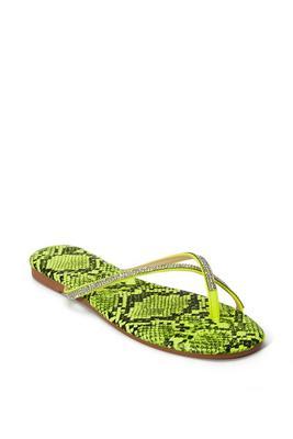 neon rhinestone sandal