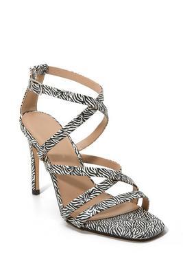 Zebra Strappy Heel