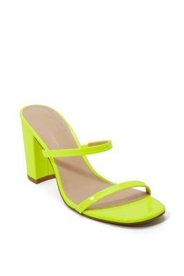 Neon Block Heel