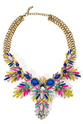 bright statement necklace