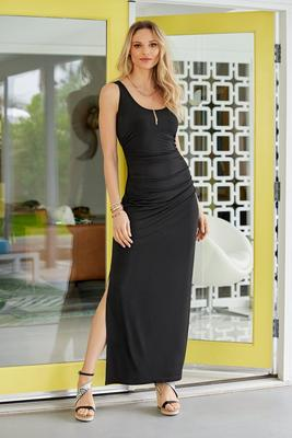 Sleeveless Ruched Maxi Dress