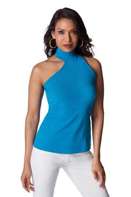 So Sexy™ Sleeveless Asymmetrical Turtleneck