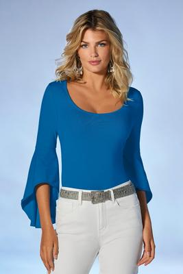 Display product reviews for So Sexy™ Drama Flare Sleeve Top