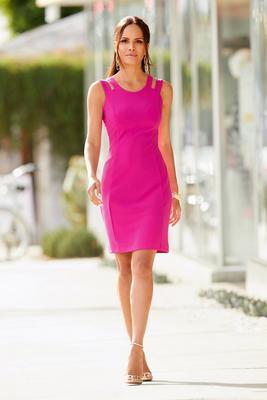 Beyond Travel™ Sleeveless Cutout Sheath Dress