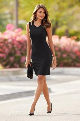 Display product reviews for Beyond Travel™ Sleeveless Cutout Sheath Dress