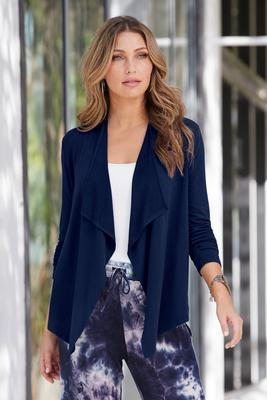 Summer Essentials French Terry Drape Sweater