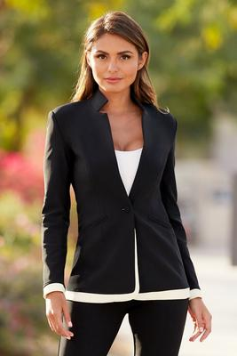 Beyond Travel™ Color-Block Trim Blazer