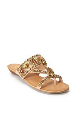 Embellished Slip-On Sandal