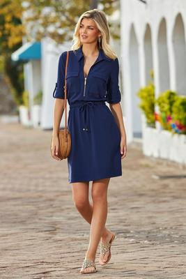 beyond travel™ zip-up dress