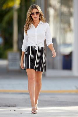 Beyond Travel™ Striped Skort