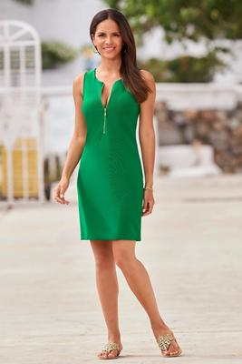 Beyond Travel™ Short Zipper Dress