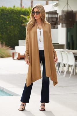 Versatile Drape High-Low Sweater