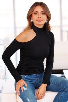 So Sexy™ Long Sleeve Asymmetrical Turtleneck