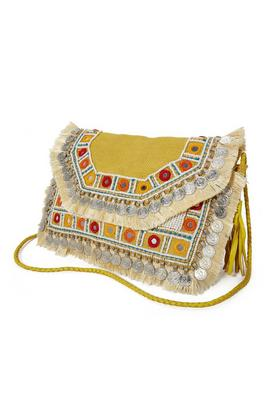 Embroidered and Embellished Clutch